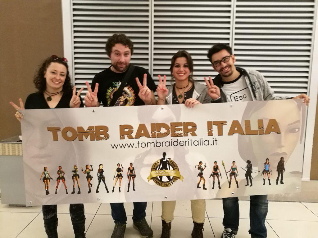 Lo striscione di Tomb Raider Italia @ Gamerome!