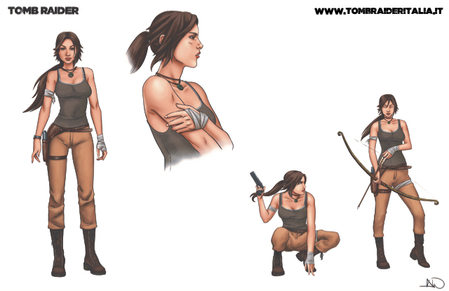 Tomb Raider: Survivor's Crusade - Bozzetti Lara Croft