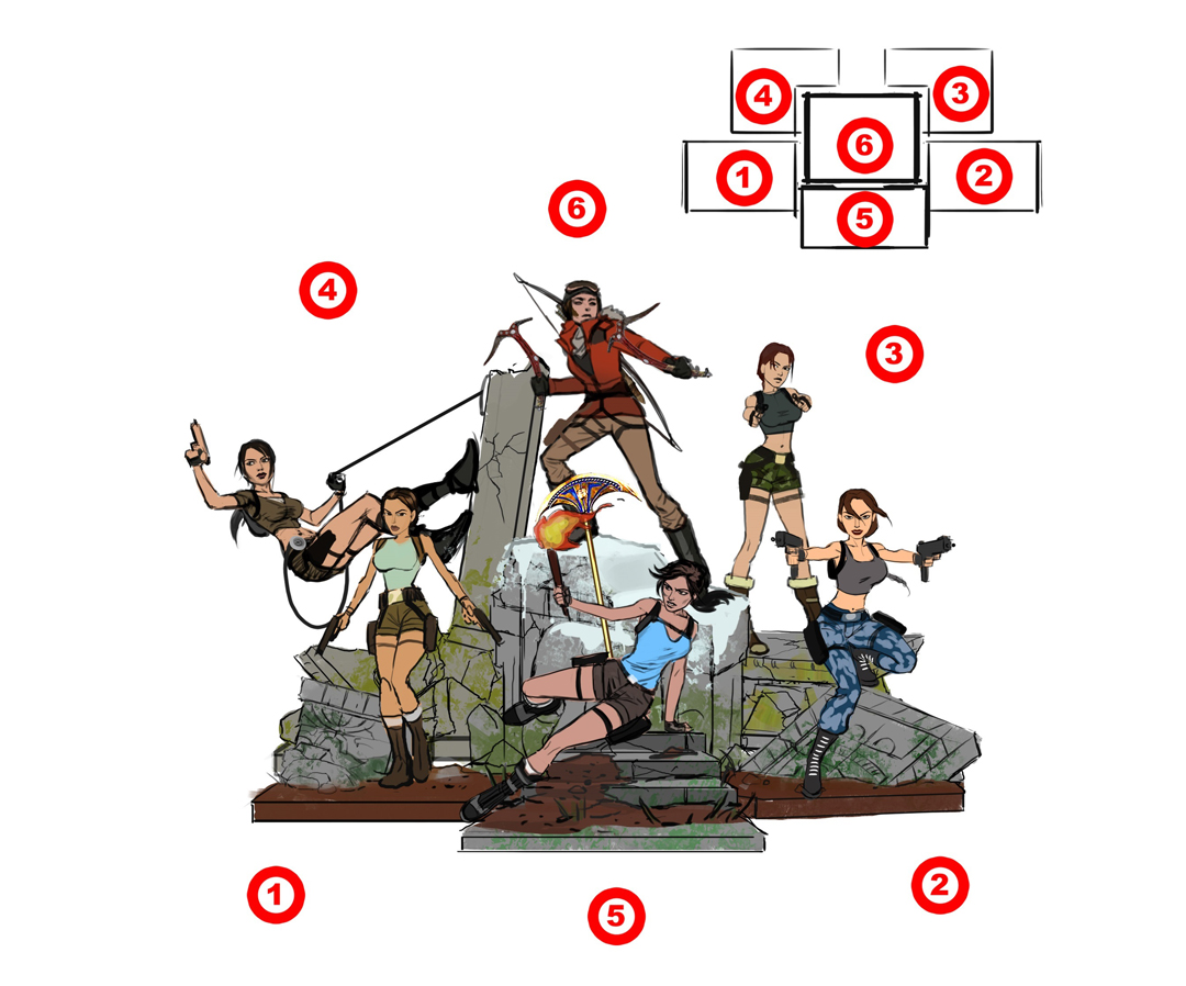 Tomb Raider 20 Statue
