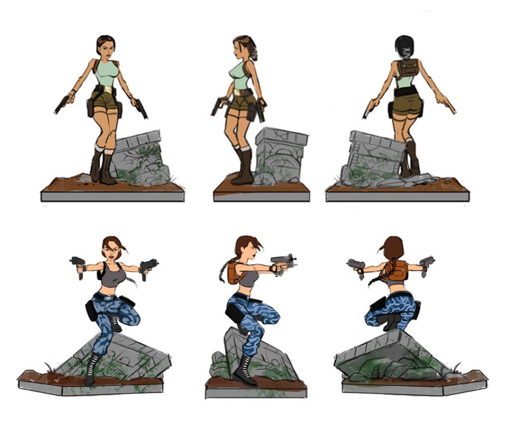 Tomb Raider 20 Statue - bozzetto