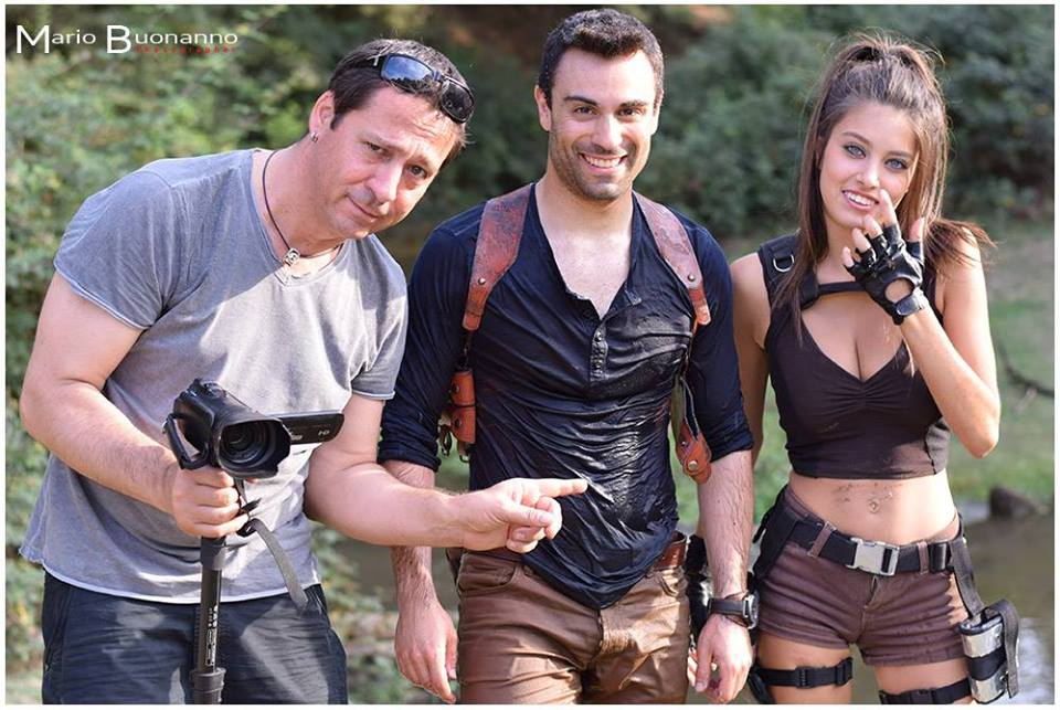 I due attori con il regista, Michele Conidi