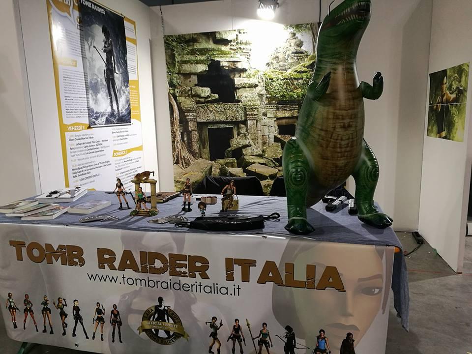 Lo stand Tomb Raider Italia a Cartoomics 2017