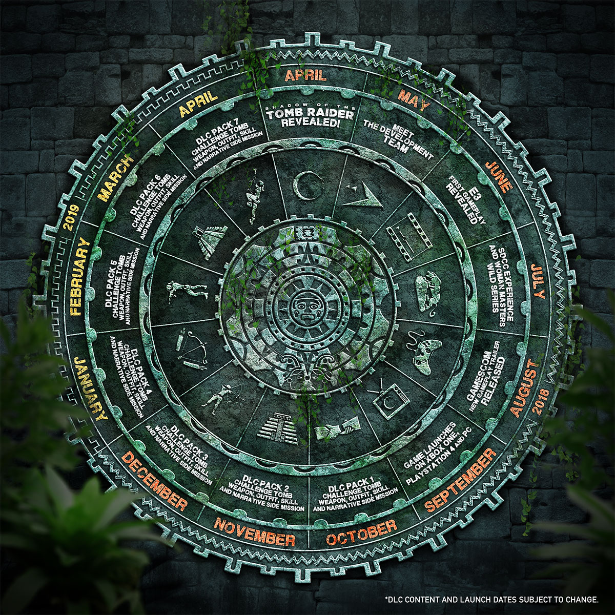 Calendario Shadow of the Tomb Raider